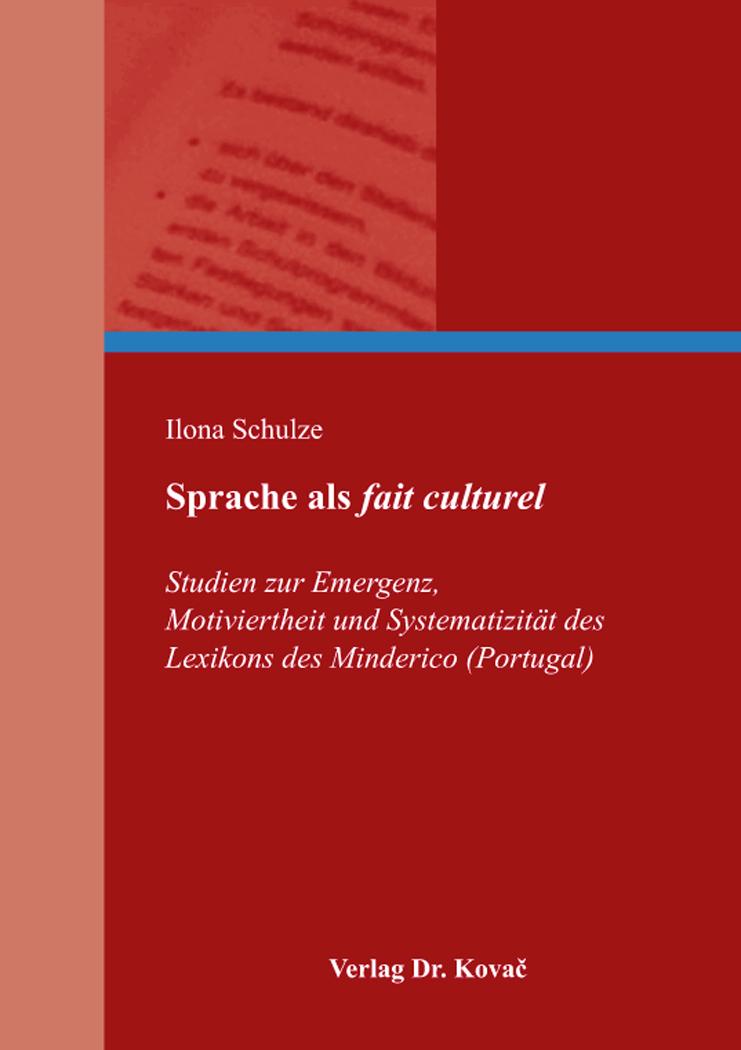 Cover: Sprache als fait culturel