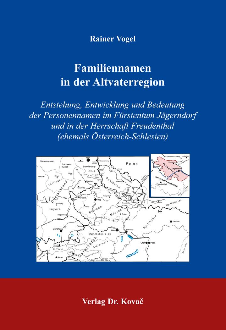 Cover: Familiennamen in der Altvaterregion