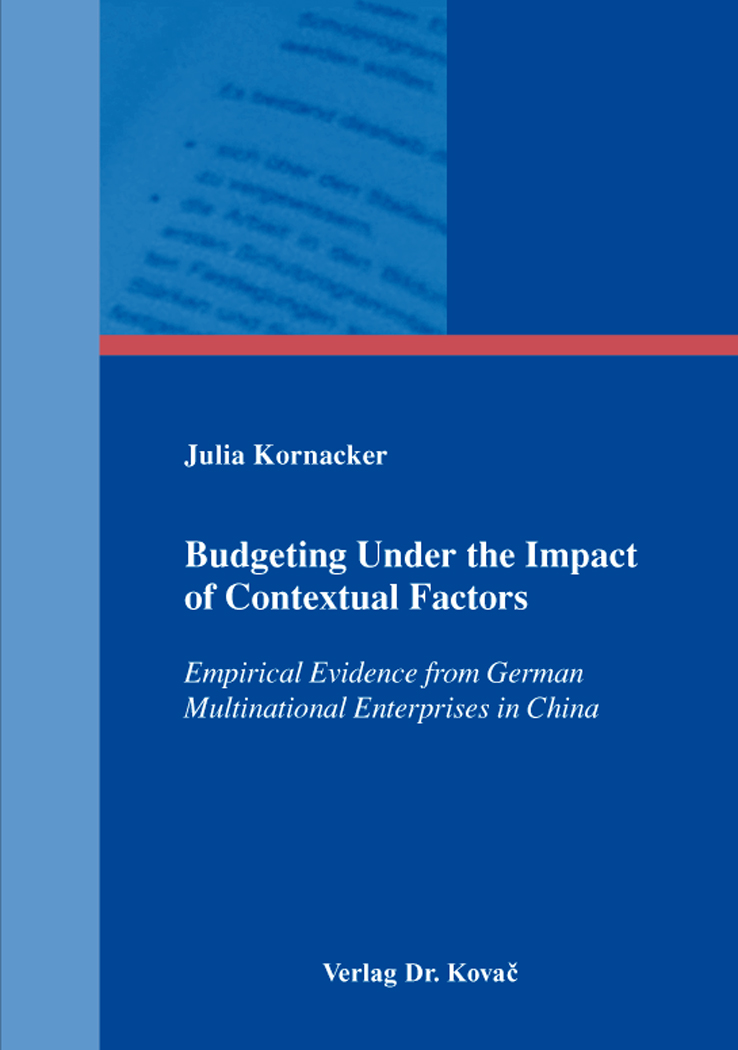 Cover: Budgeting Under the Impact of Contextual Factors