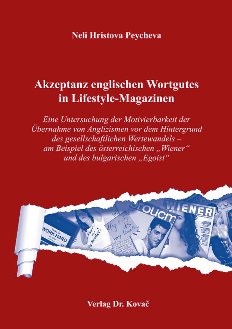 Cover: Akzeptanz englischen Wortgutes in Lifestyle-Magazinen