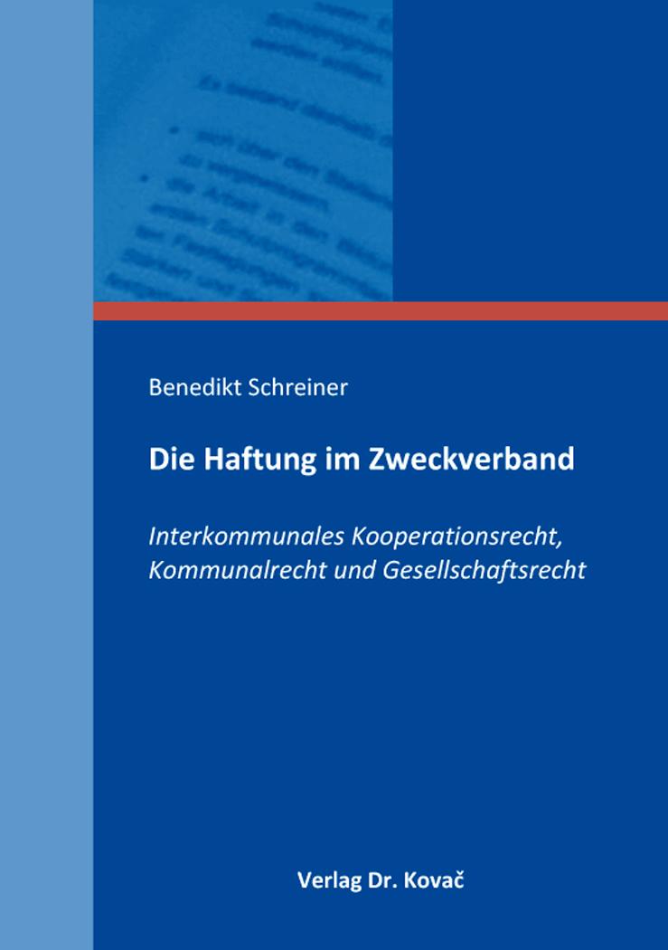 Cover: Die Haftung im Zweckverband