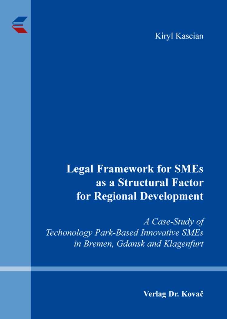 Cover: Legal Framework for SMEs as a Structural Factor for Regional Development