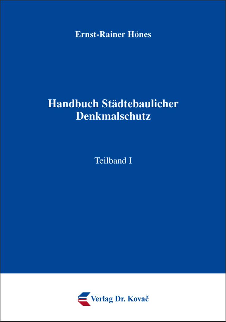 Cover: Handbuch Städtebaulicher Denkmalschutz