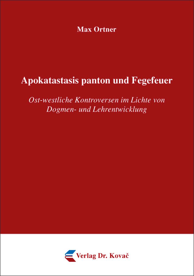 Cover: Apokatastasis panton und Fegefeuer