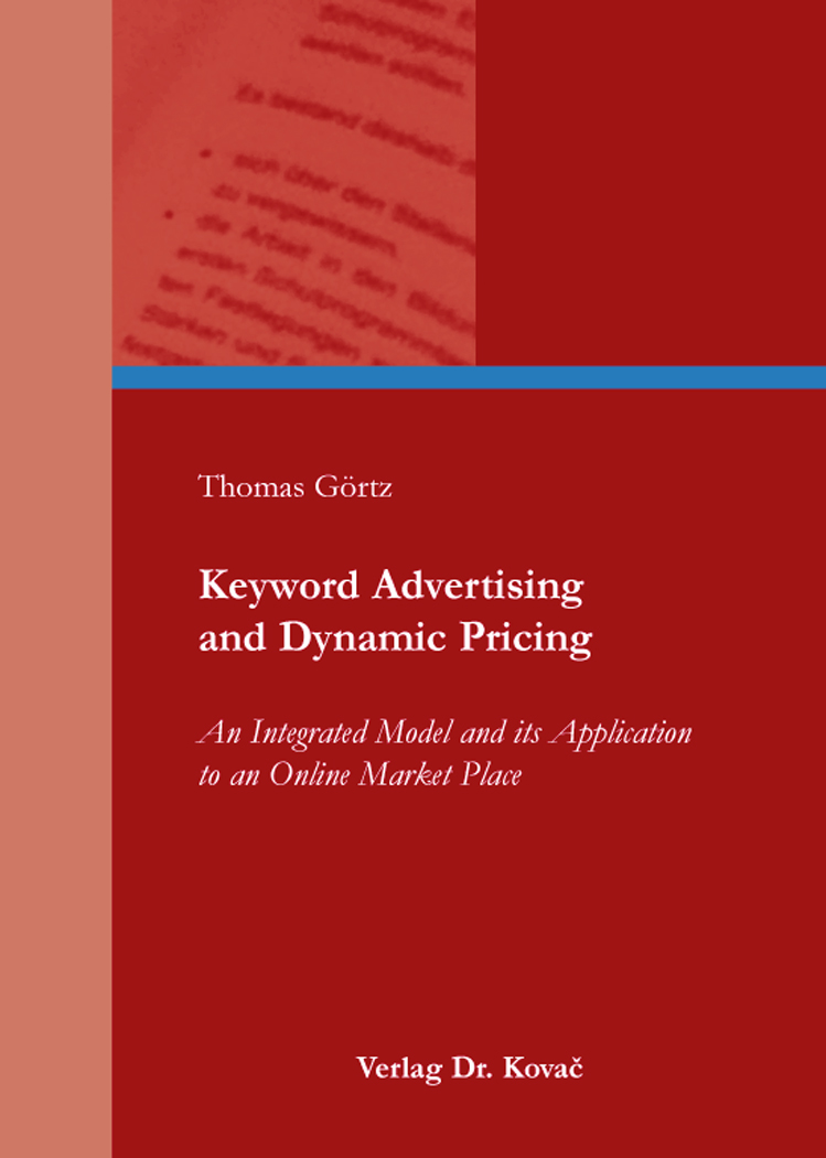 Cover: Keyword Advertising and Dynamic Pricing