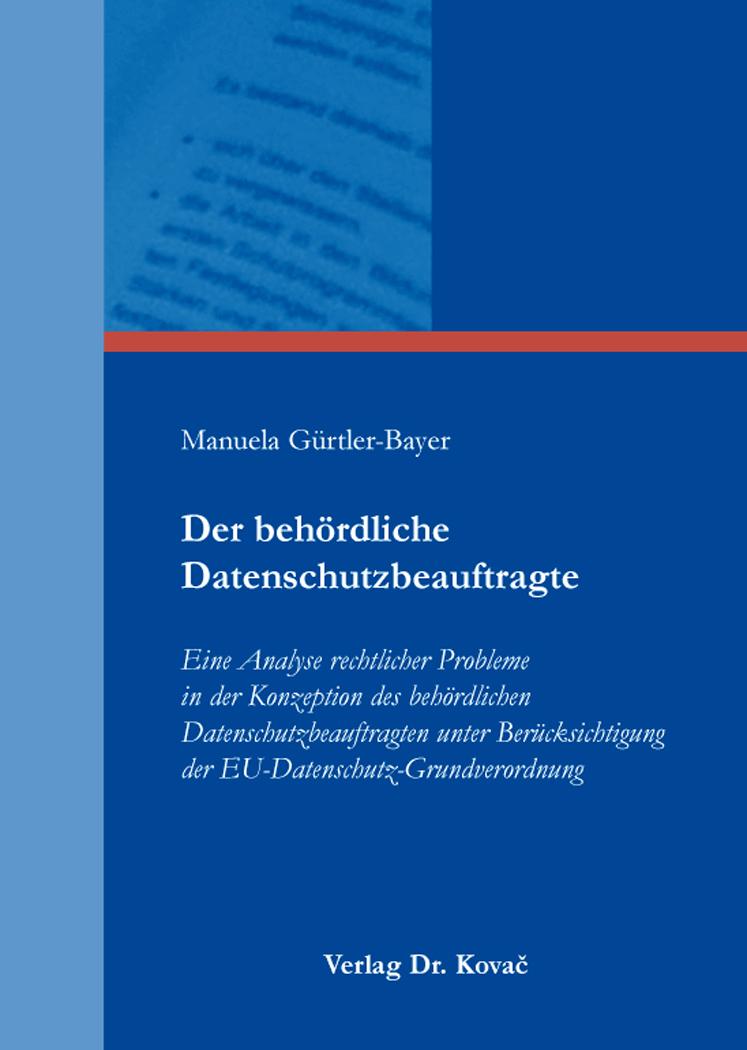 Cover: Der behördliche Datenschutzbeauftragte