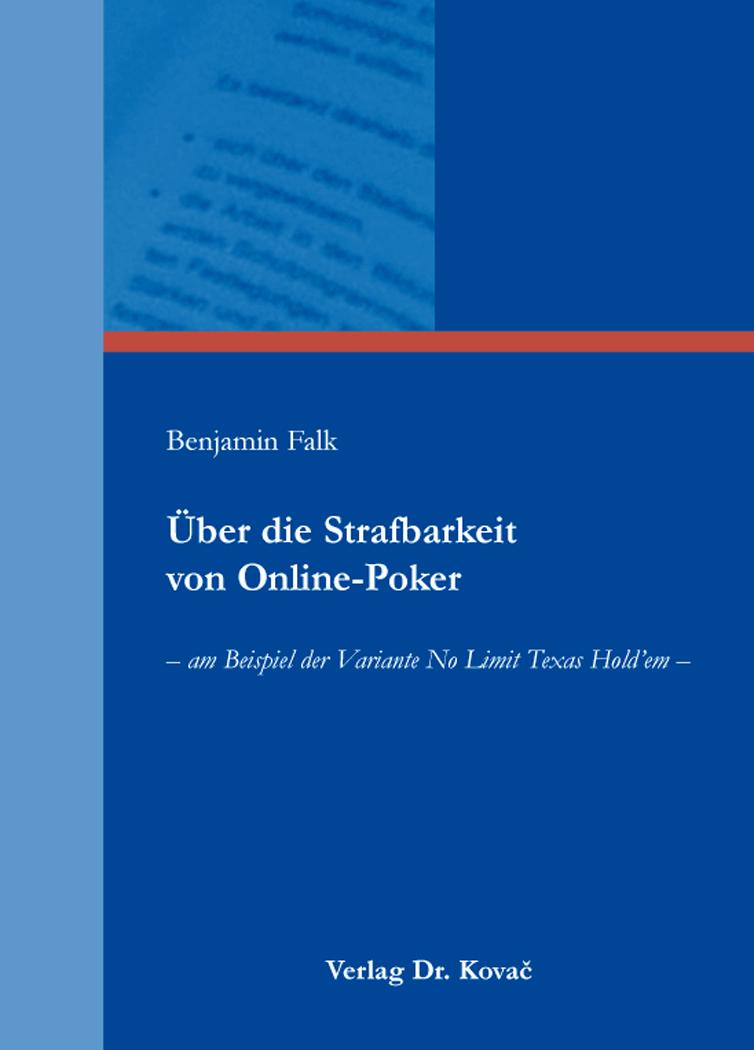 Cover: Über die Strafbarkeit von Online-Poker