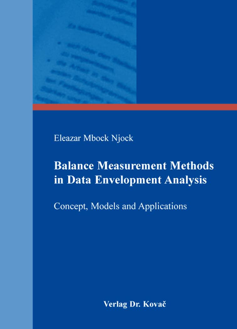 Cover: Balance Measurement Methods in Data Envelopment Analysis