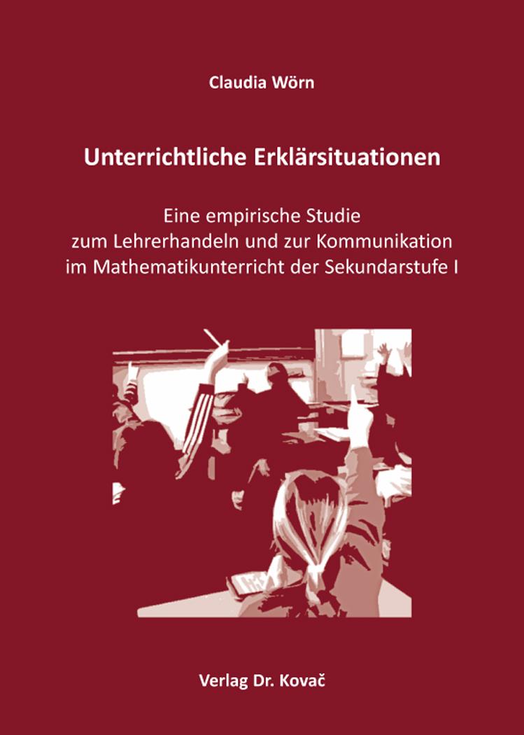 Cover: Unterrichtliche Erklärsituationen