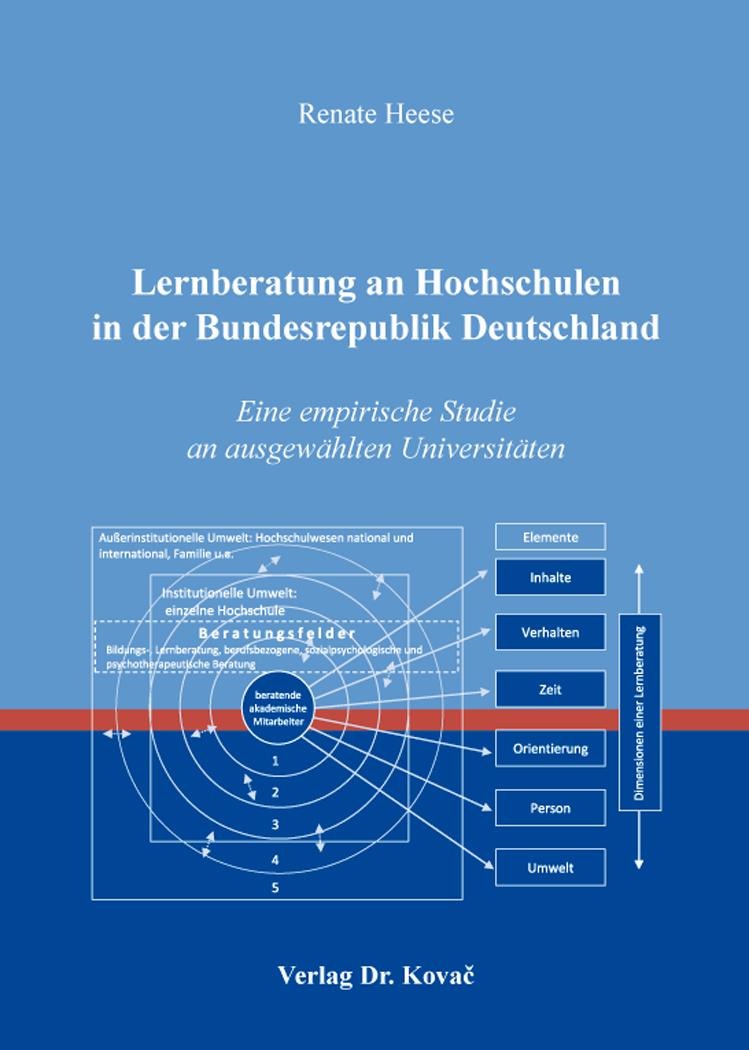 Cover: Lernberatung an Hochschulen in der Bundesrepublik Deutschland