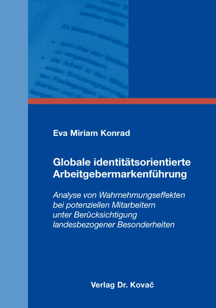 Cover: Globale identitätsorientierte Arbeitgebermarkenführung