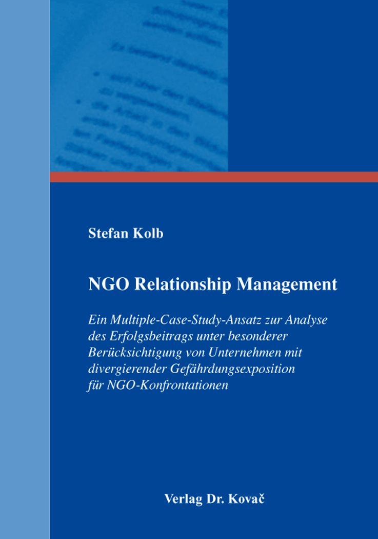Cover: NGO Relationship Management