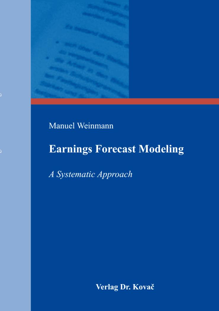 Cover: Earnings Forecast Modeling