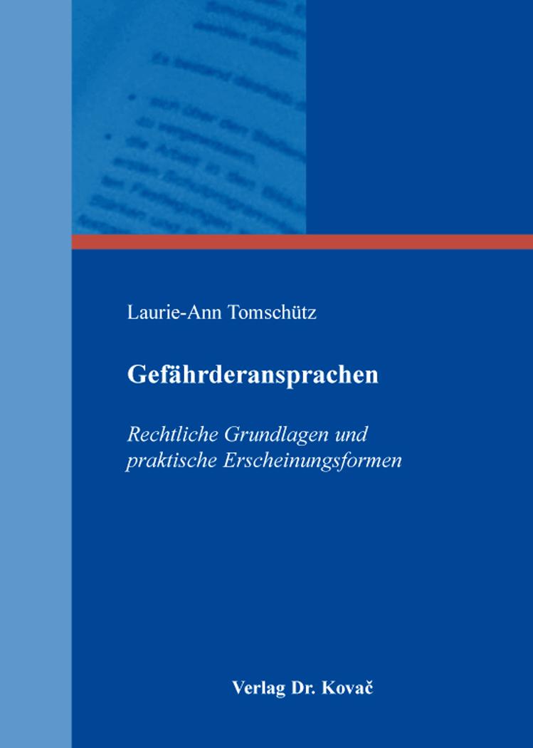 Cover: Gefährderansprachen
