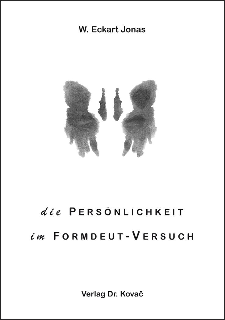 Cover: Die Persönlichkeit im Formdeut-Versuch