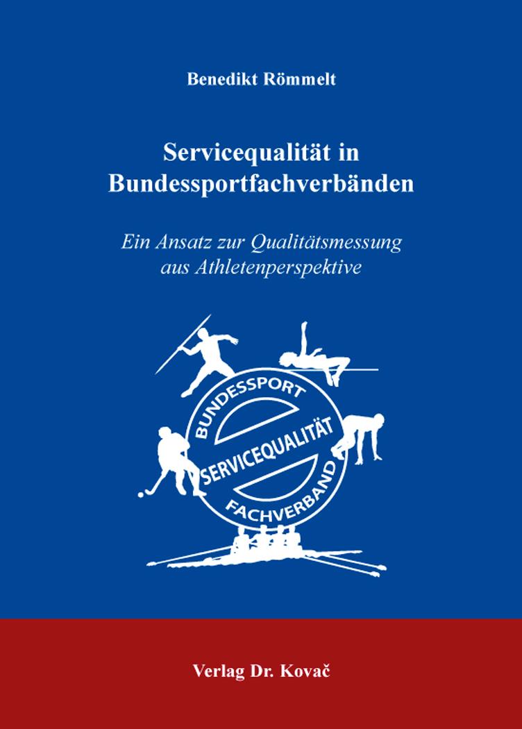 Cover: Servicequalität in Bundessportfachverbänden