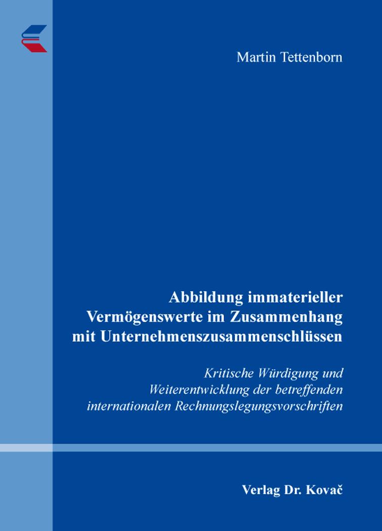 Cover: Abbildung immaterieller Vermögenswerte im Zusammenhang mit Unternehmenszusammenschlüssen
