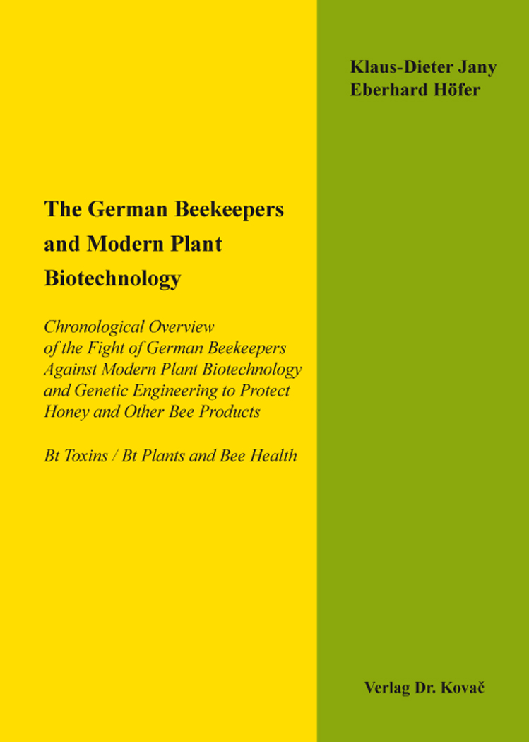 Cover: The German Beekeepers and Modern Plant Biotechnology