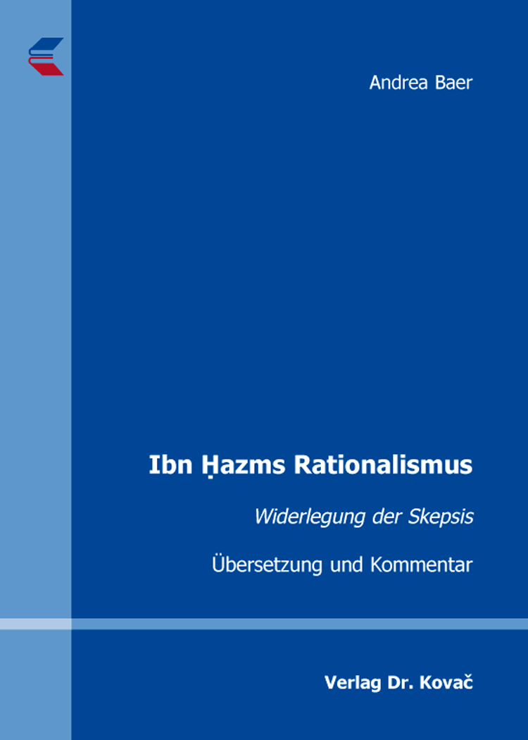Cover: Ibn Ḥazms Rationalismus