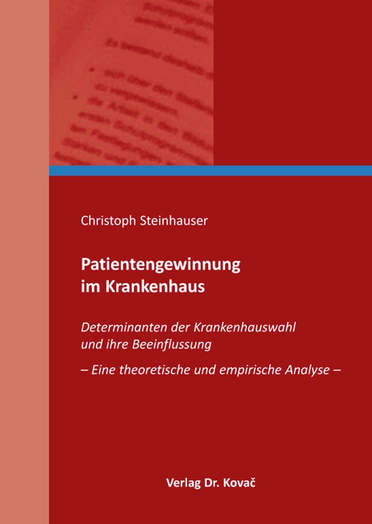 Cover: Patientengewinnung im Krankenhaus