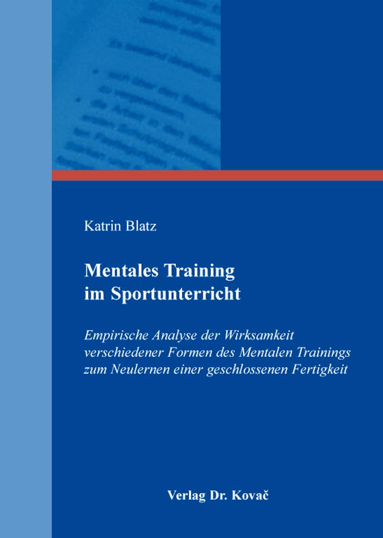 Cover: Mentales Training im Sportunterricht