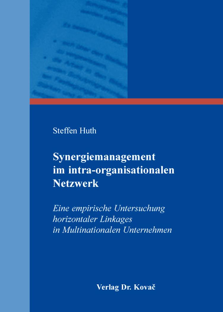 Cover: Synergiemanagement im intra-organisationalen Netzwerk