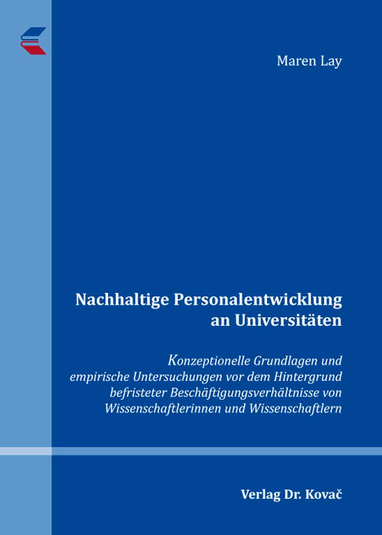 Cover: Nachhaltige Personalentwicklung an Universitäten