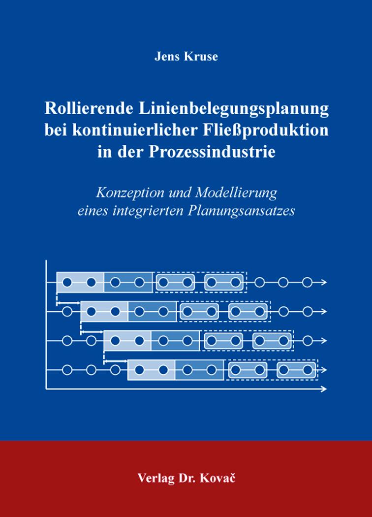 Cover: Rollierende Linienbelegungsplanung bei kontinuierlicher Fließproduktion in der Prozessindustrie