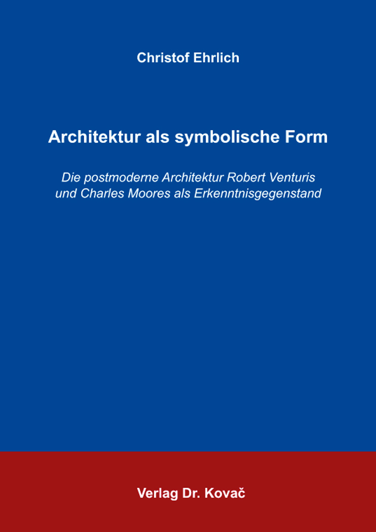 Cover: Architektur als symbolische Form