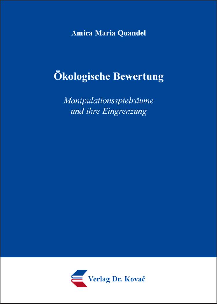 Cover: Ökologische Bewertung