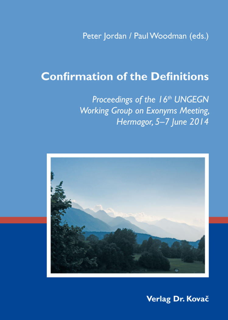 Cover: Confirmation of the Definitions