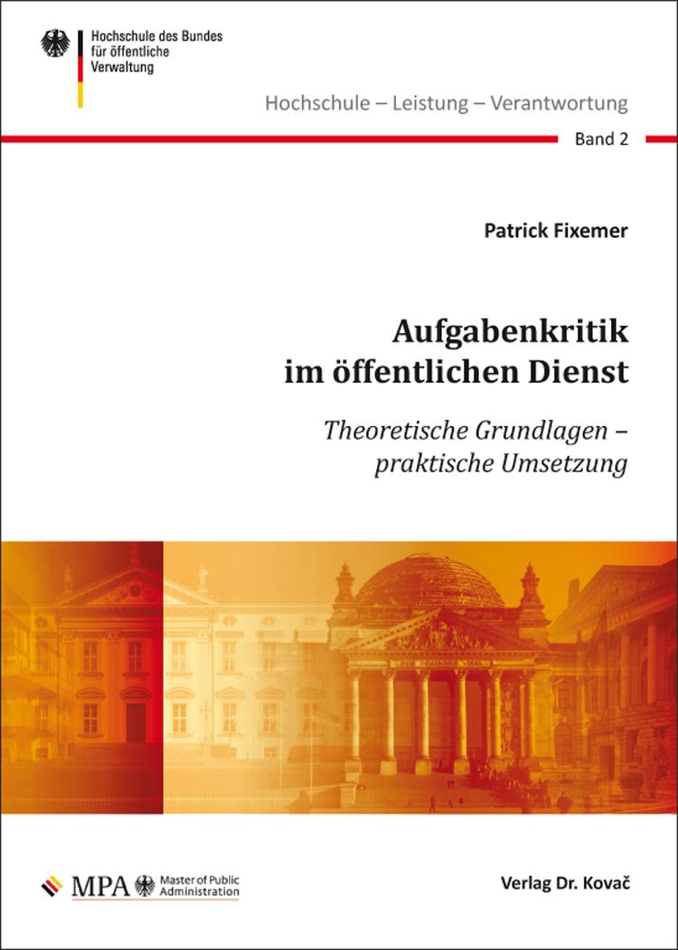 Cover: Aufgabenkritik im öffentlichen Dienst