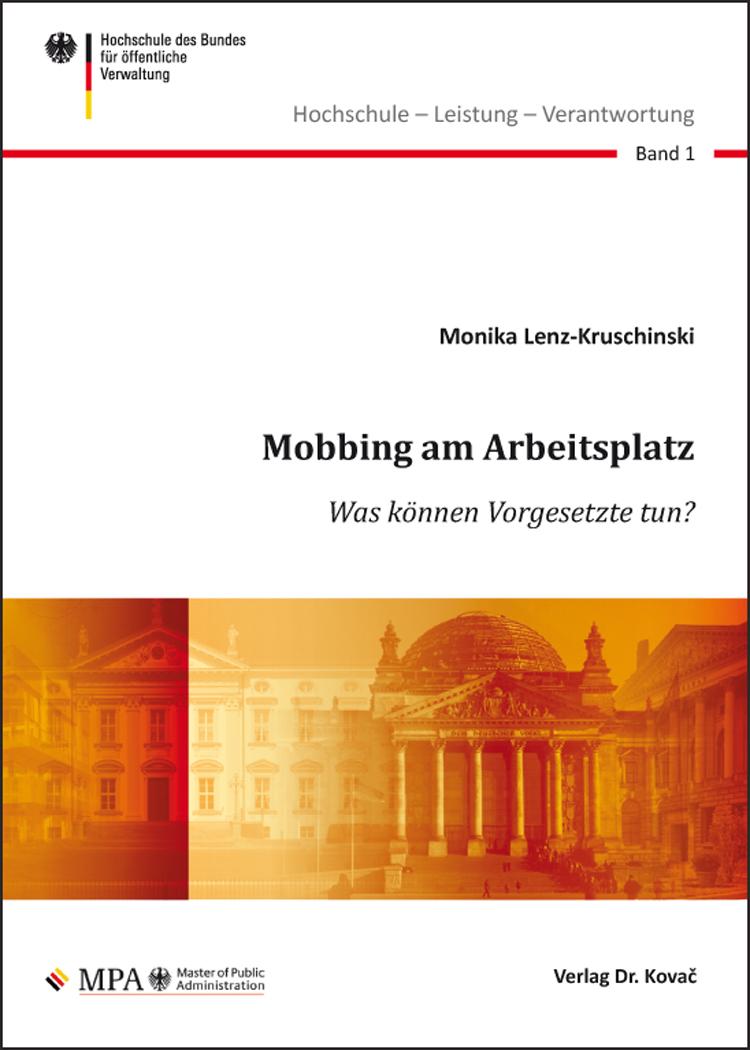 Cover: Mobbing am Arbeitsplatz