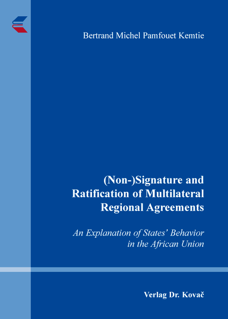 Cover: (Non-)Signature and Ratification of Multilateral Regional Agreements
