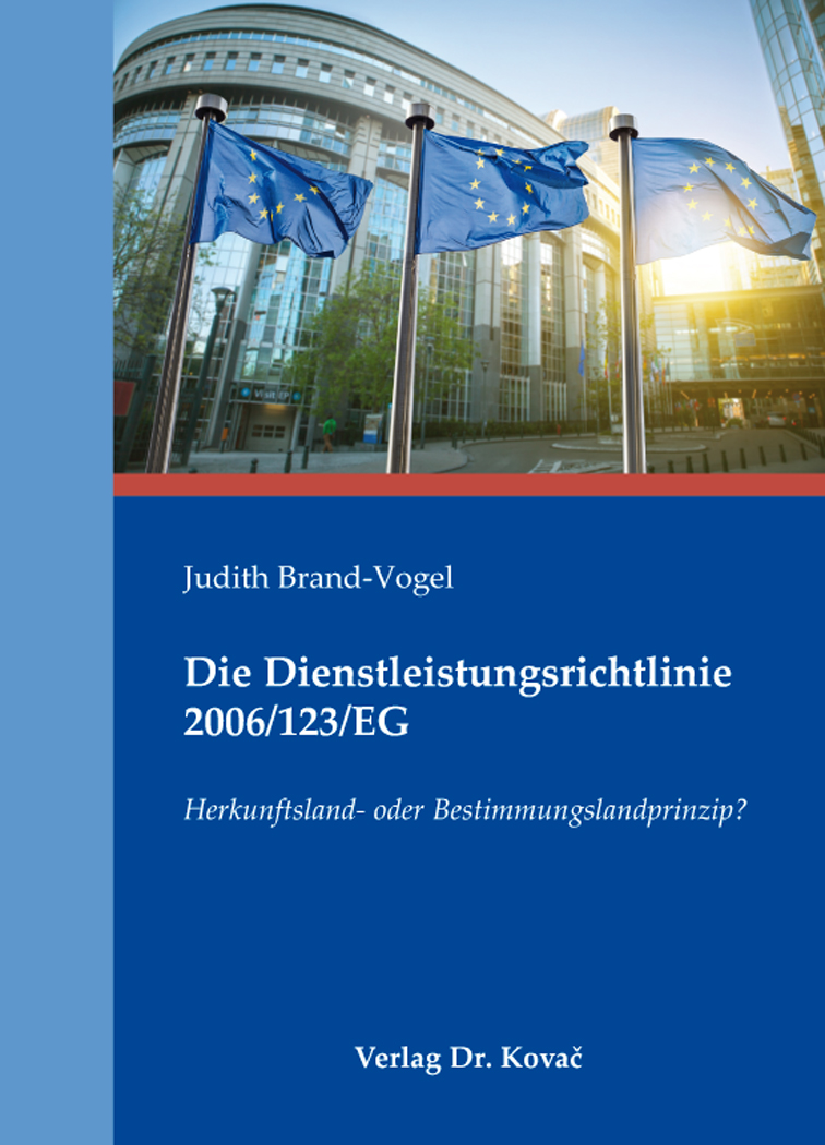 Cover: Die Dienstleistungsrichtlinie 2006/123/EG
