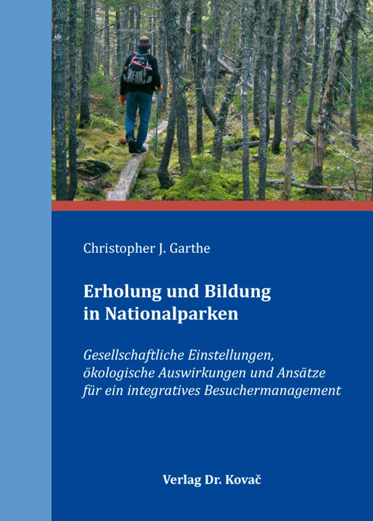 Cover: Erholung und Bildung in Nationalparken
