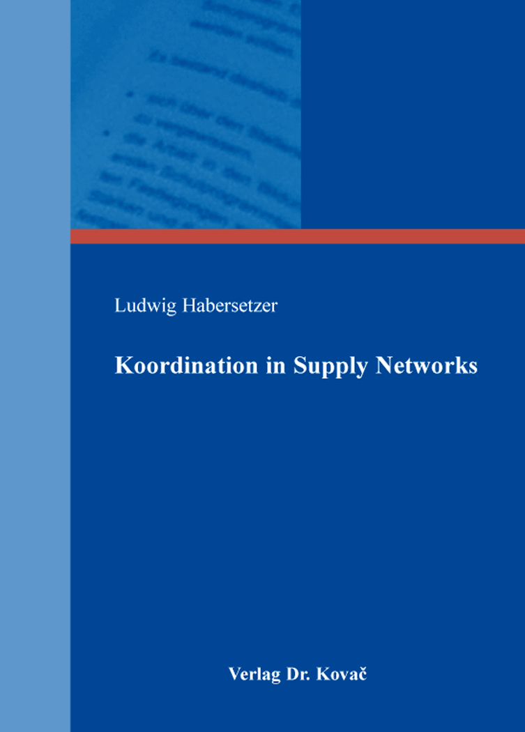 Cover: Koordination in Supply Networks