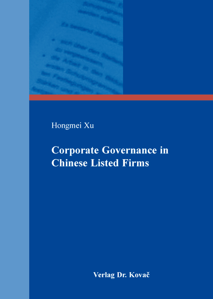 Cover: Corporate Governance in Chinese Listed Firms