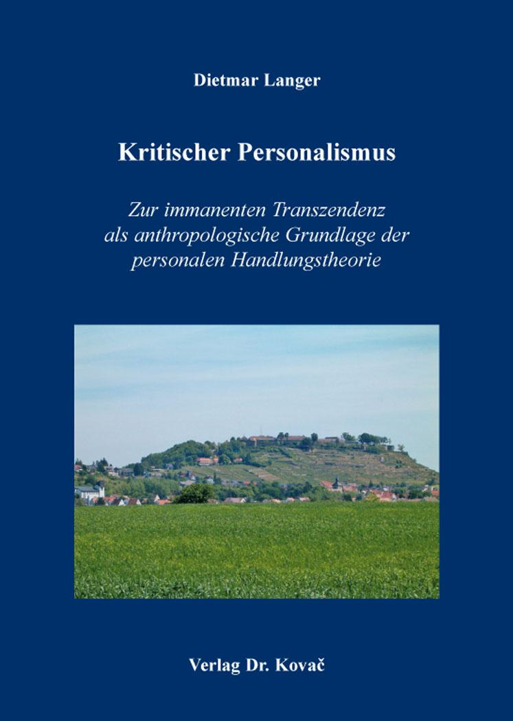 Cover: Kritischer Personalismus