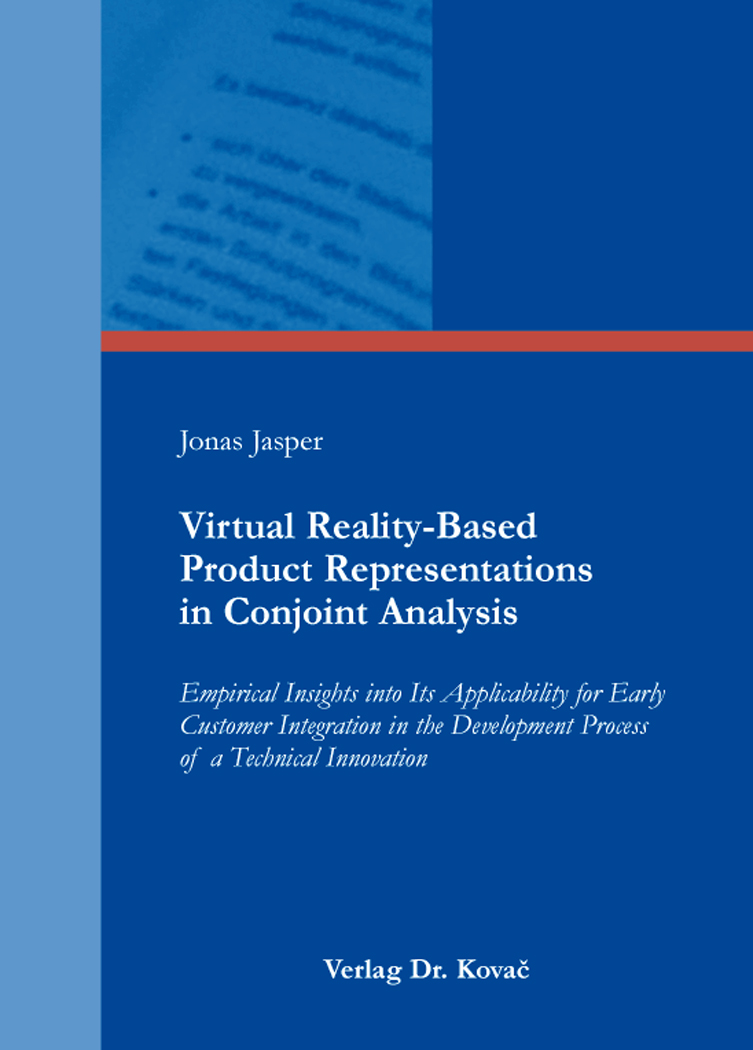 Cover: Virtual Reality-Based Product Representations in Conjoint Analysis