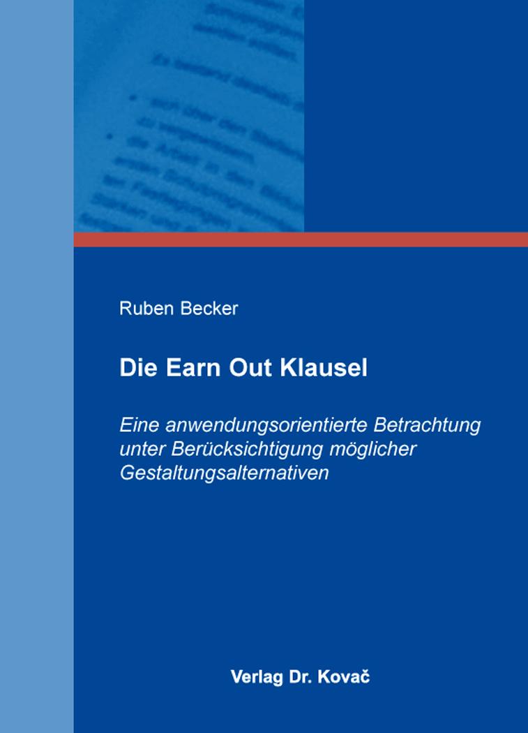 Cover: Die Earn Out Klausel