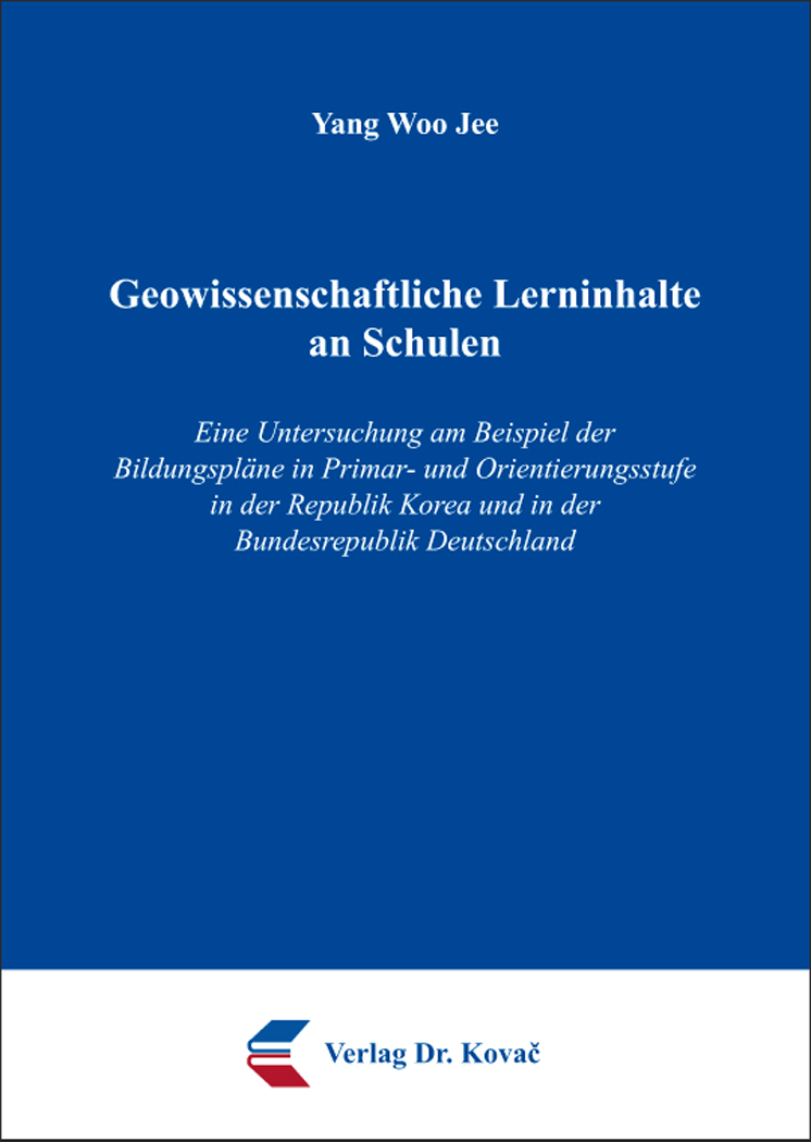 Cover: Geowissenschaftliche Lerninhalte an Schulen