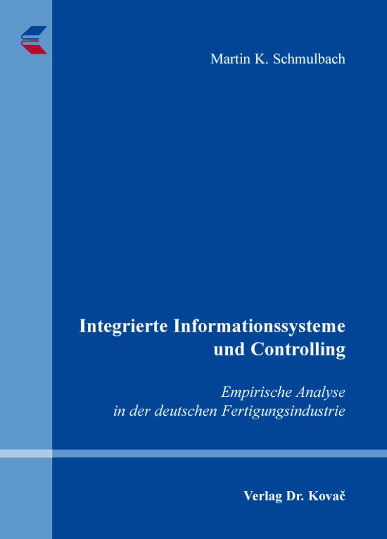 Cover: Integrierte Informationssysteme und Controlling