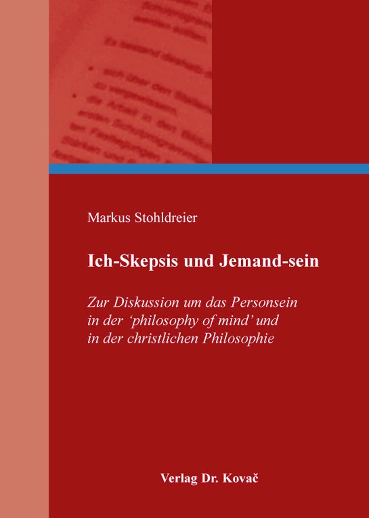 Cover: Ich-Skepsis und Jemand-sein