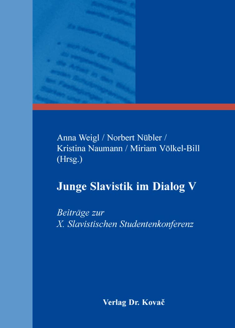 Cover: Junge Slavistik im Dialog V