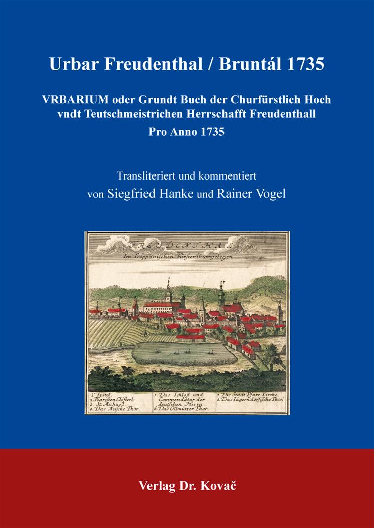 Cover: Urbar Freudenthal / Bruntál 1735