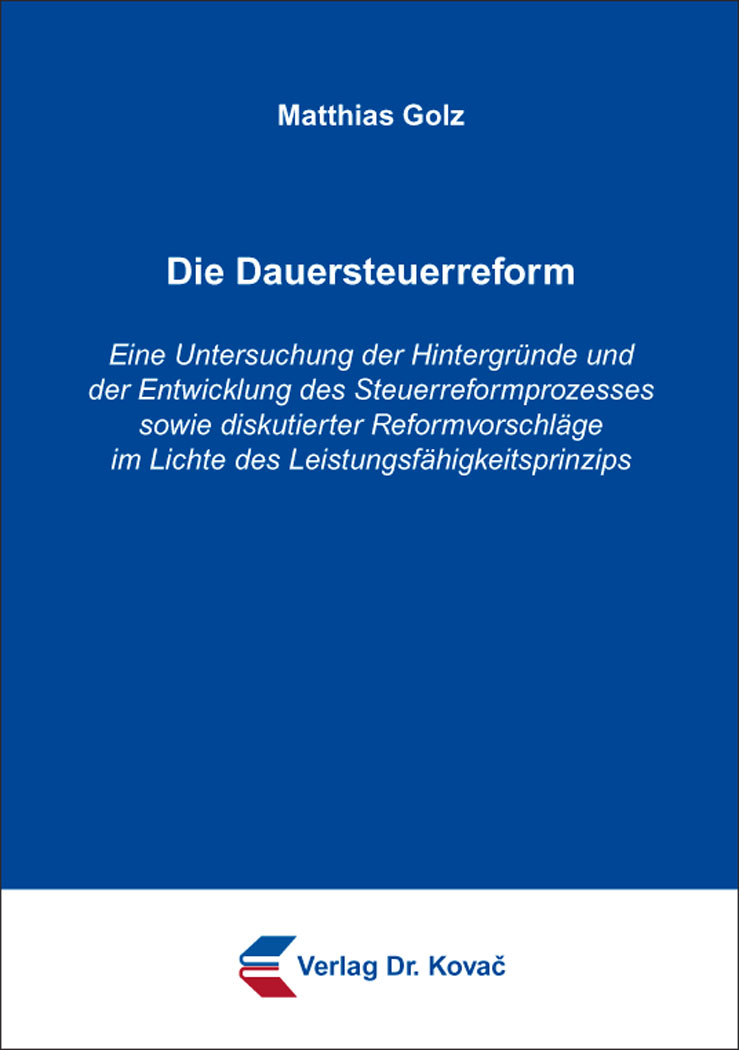 Cover: Die Dauersteuerreform