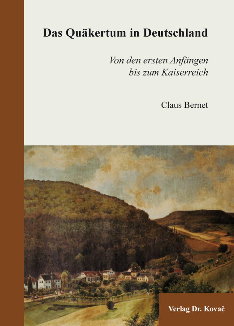 Cover: Das Quäkertum in Deutschland