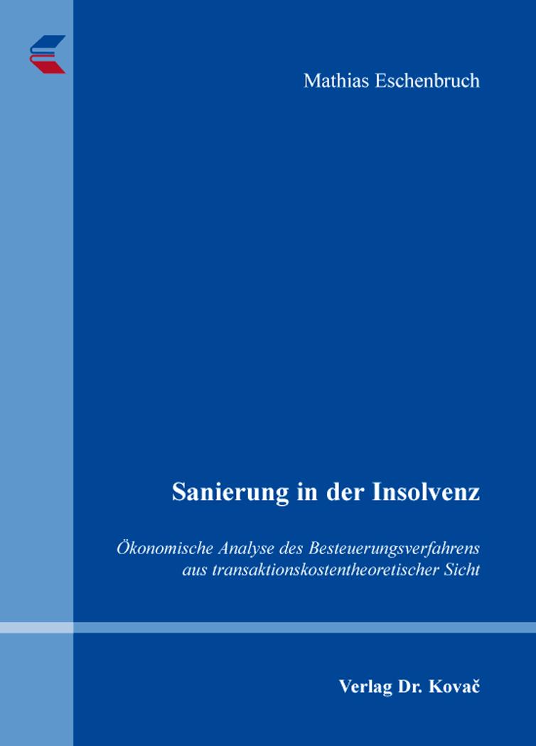 Cover: Sanierung in der Insolvenz