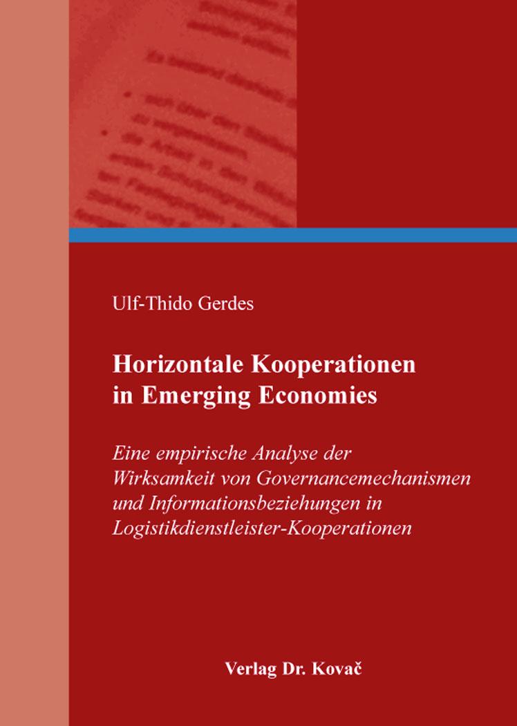 Cover: Horizontale Kooperationen in Emerging Economies